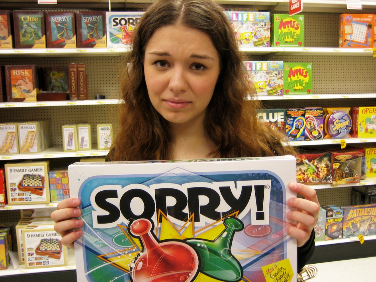 over apologizing