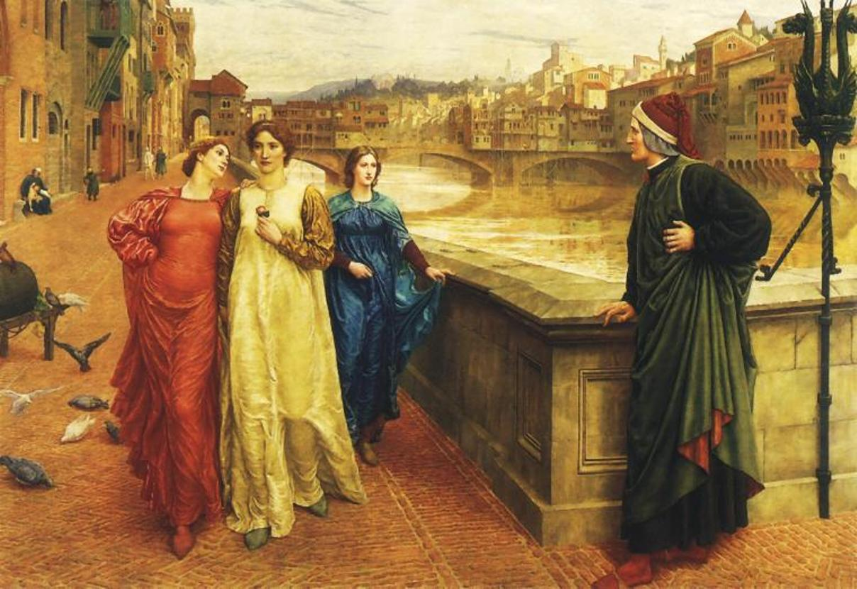 Unrequited love depiected by Dante and Beatrice