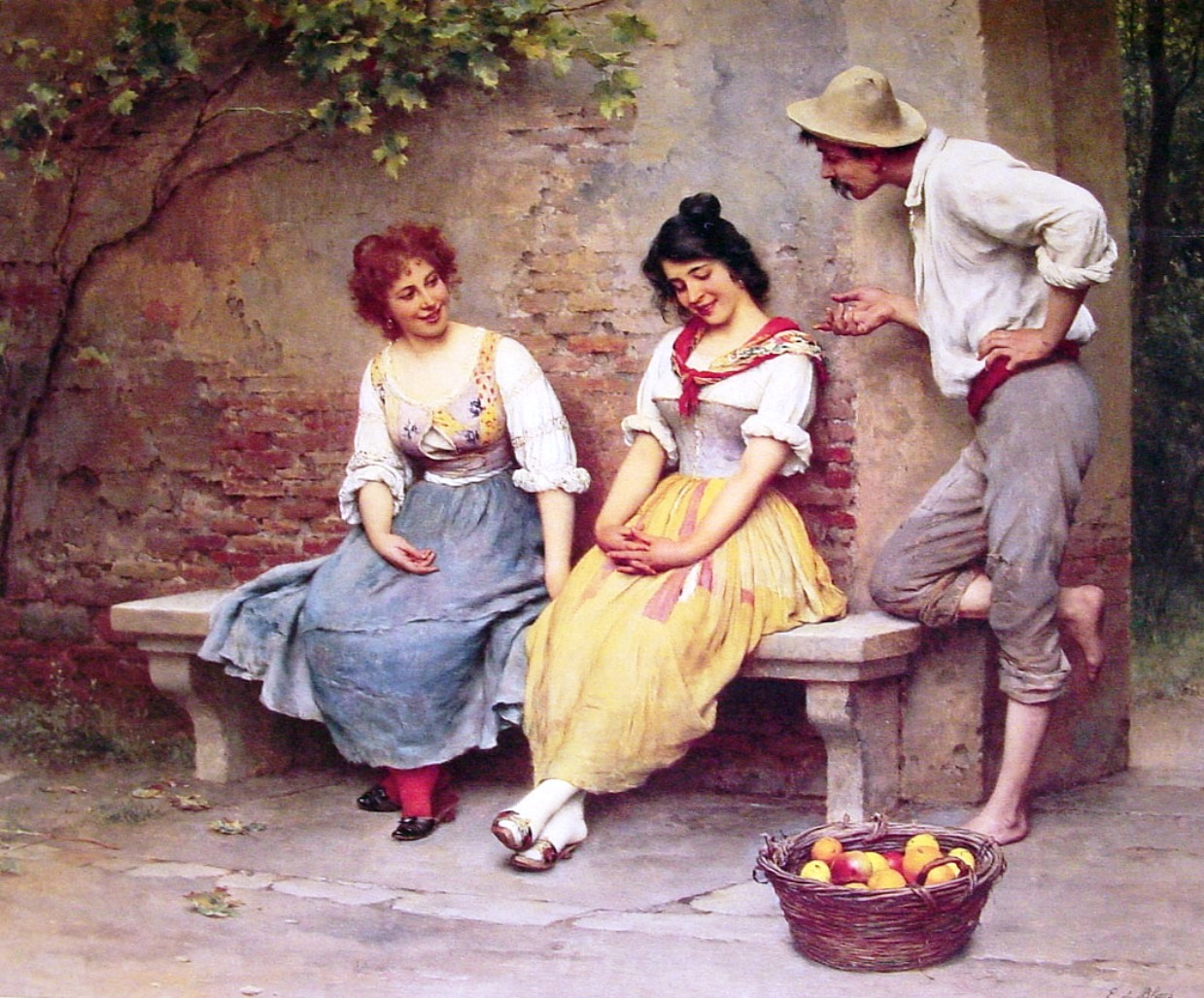 The Flirtation by Eugen de Blaas