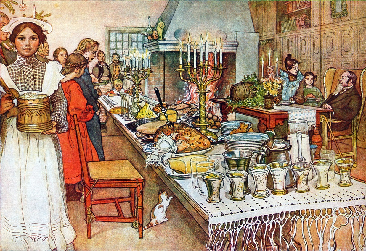Julaftonen (Christmas Eve), a 1904–05 watercolor painting by Carl Larsson